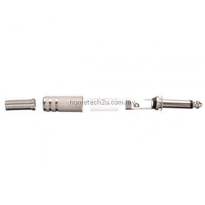 6.35mm Mono Amplifier Plug 1/4Inch Male Mono Monaural Jack Audio Cable Connector Plug Microphone Audio Connectors
