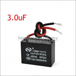 AC 450V 3.0uF 50Hz 2 Wired Motor Run Capacitor CBB61