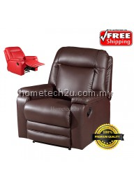 Sevannah One Seater Solid PU Recliner Chair Sofa
