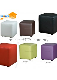 Mary PU One Seater Square Stool Sofa
