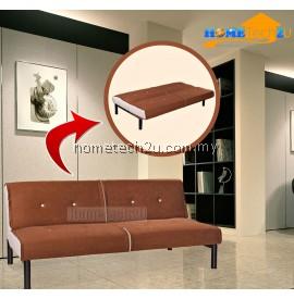 Carissa Stylish Microfiber Sofa Bed-Brown