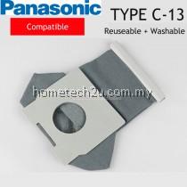 Panasonic Cotton Reusable and Washable Type C-13 Vacuum Dust Bag Compatible