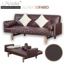 Alper PU Sofa Bed (Vintage Brown)