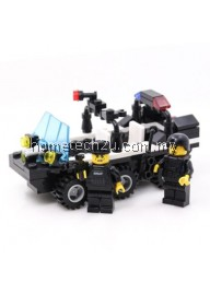 KIDS ADULT EDUCATIONAL TOY BUILDING BRICKS SWAT PATROL ARMORED CAR BLOCKS ASSEMBLED GIFT (COLORMIX)